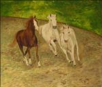 Galloping Horses in Oil by CarolynYM