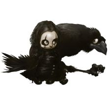 LITTLE THE CROW by Alberto VARANDA by VARANDA-Alberto