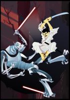 Jack Vs. Grievous by Drawmurai