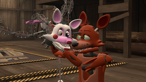 Come Here Lass~ (Foxy x Mangle) by AngryMordReturns