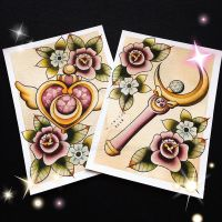 Sailor Moon Tattoo Flash by Michelle Coffee by misscoffee