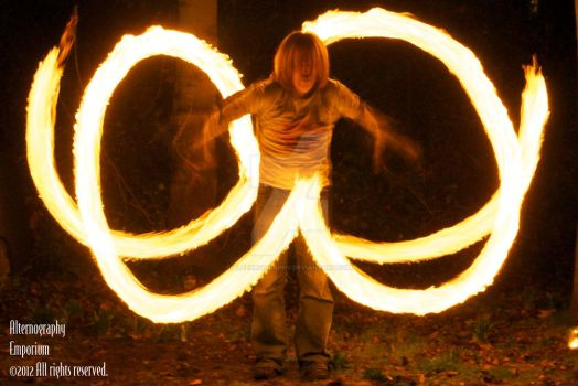 Fire dancing by alternography