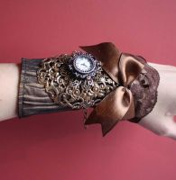 Organza watch cuff by Pinkabsinthe