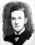 Portrait of H.P. Lovecraft by filmshirley