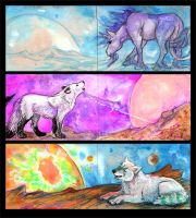 ACEO Cards: Exoplanets by MoonsongWolf