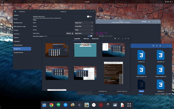 Edge Dark GTK theme by powerup1163