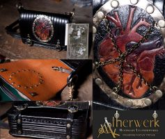 Shoulderbag Chained Heart by Aetherwerk