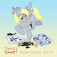 Derpy New Year! by zero-sum