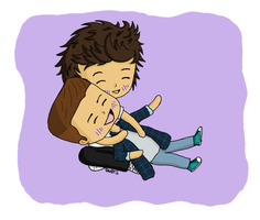 Liam and Harry cuddling by lilmisscoolio