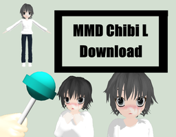 MMD Chibi L - Death Note DL by Trippy-Rabbit