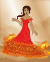 Katniss: The Girl On Fire by ALS123