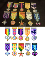 Pony Military Medals by Thebubbleqat