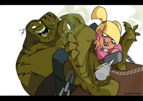 Killer Croc tickle by crazy-wolf