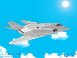 The Gray F-117 by BoggeyDan