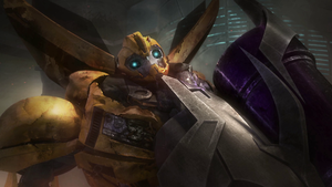TFP Bumblebee and Megatron by ArielPax