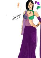 Indian_Attire_by_Wasted_Crayon - colored! by WastedCrayon