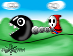 Chain Chomp attacks by JigglyPuffGirl