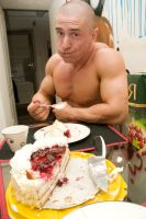 Dima and a cake by vishstudio