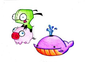 Gir and Whale doodle by CubbiLovesYou22