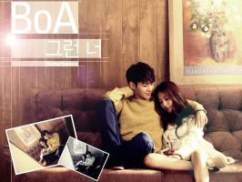 BoA and Taemin Wallpaper by ForeverK-PoPFan