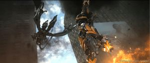 Transformers 4 Bumblebee and Strafe Animation by TFPrime1114