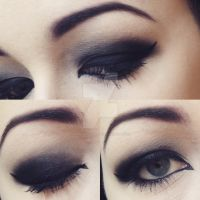 Gothic Black Eye Makeup by emmaghostprints
