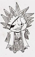 For xXDecepticonRoseXx: Kenpachi Chibi! by PeachBerryDivision