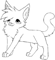 MS Paint Cat lineart by icefire8521