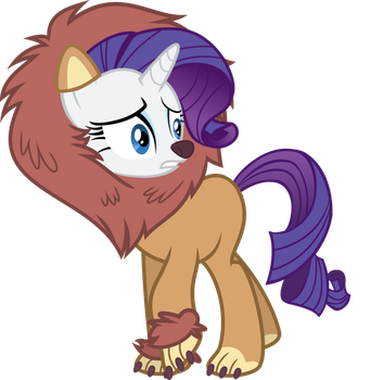 Rarity is a lion! by Sikander-MLP