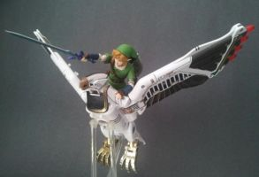 Link Riding the Falconzord by 0PT1C5