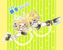 [Vocaloid] Kagamine glasses cloth by wingfung521