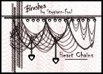 Heart Chain Brushes STOCK by stygians-fool-stock
