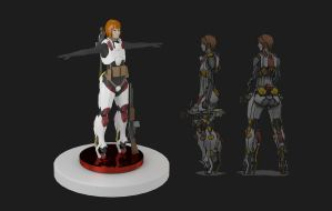 Character - Anna in 3D, first version by longgi