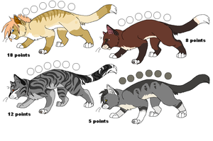 Cat Adoptables 3 CLOSED by PI0SON