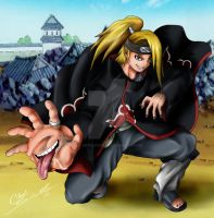 deidara colored by fullmetalschoettle