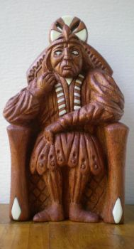 Hand Carved Chess King by NCEART