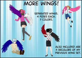 Another wing pack for ComiPo by BellaMbrianna