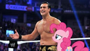 Pinkie Pie and Alberto Del Rio by RicRobinCagnaan
