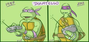 TMNT: Donnie then and now by Succubii