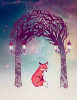 Fox in the Woods by nellmeowmeow