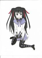 Homura in twintails by Annagong963