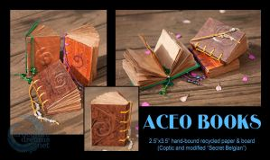 ACEO Books by crocodiledreams