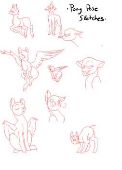 Pony Pose Sketches by Ktmb1