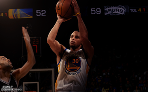 Stephen Curry | Lighting | Wallpaper by ClydeGraffix