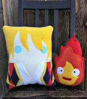 howl and calcifer by Telahmarie