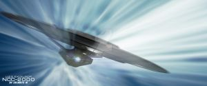 USS Excelsior at warp! by calamitySi