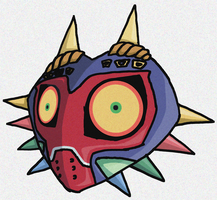 Majoras Mask Wind Waker Style by Sketchinmaster