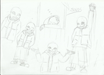 Sans drawing pratice by FableworldNA