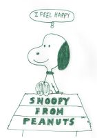 Snoopy from Peanuts - I Feel Happy by dth1971
