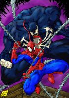 Spiderman Vs. Venom by Jey2K